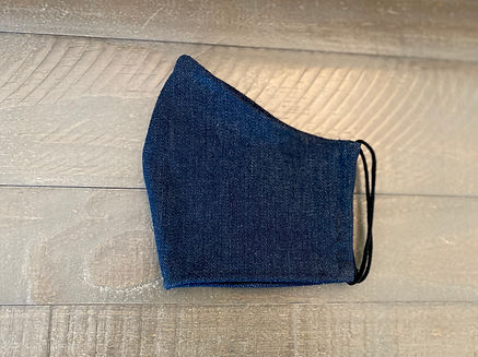 denim cloth face mask