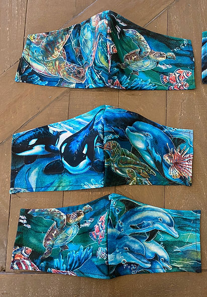 sea-life cloth face masks