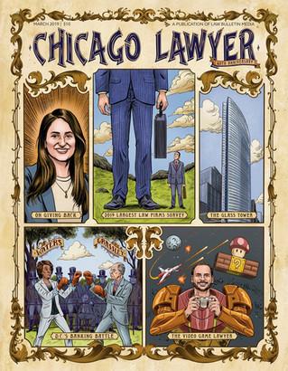 Chicago Lawyer Magazine Cover Illustration