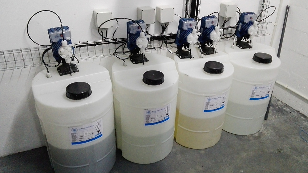 chlorination of treated wastewater