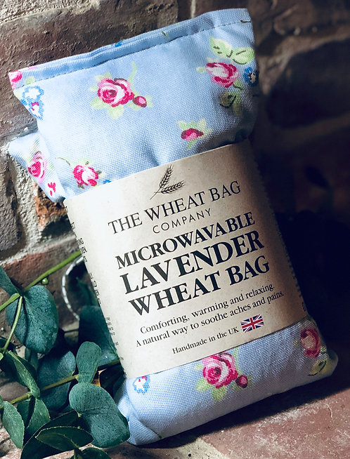 Lavender wheat bag - BLUE ROSE BUDS