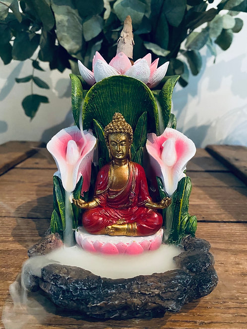 Lotus flower & Buddha backflow incense burner