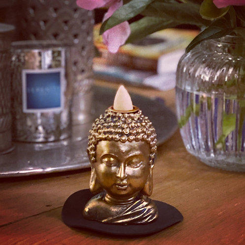Buddha Head - incense cone burner