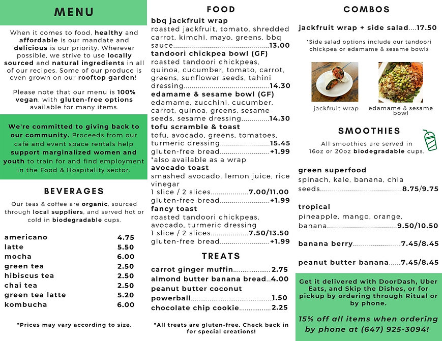 Social Gardener Cafe Flyer (used for web