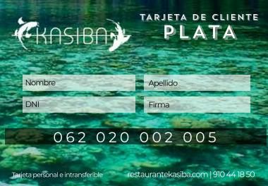 Tarjeta de cliente Plata Kasiba Restaurante