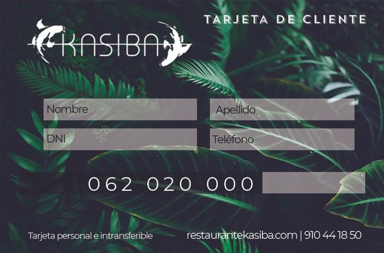 Tarjeta de cliente Kasiba Restaurante
