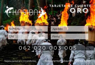 Tarjeta de cliente Oro Kasiba Restaurante