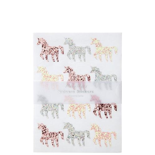Glitter Unicorn Sticker Sheet