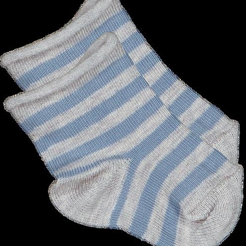 Louis Louise Paris Blue Stripe Cotton Sock