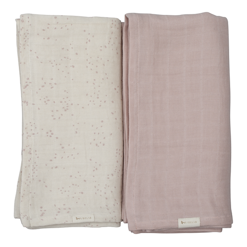 Fabelab Swaddle - Printed and solid 2 pack - Autmun Mist