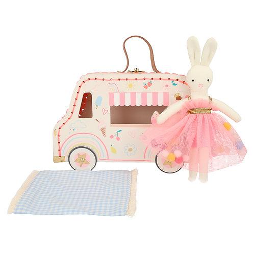 Ice Cream Van Bunny Mini Suitcase Doll