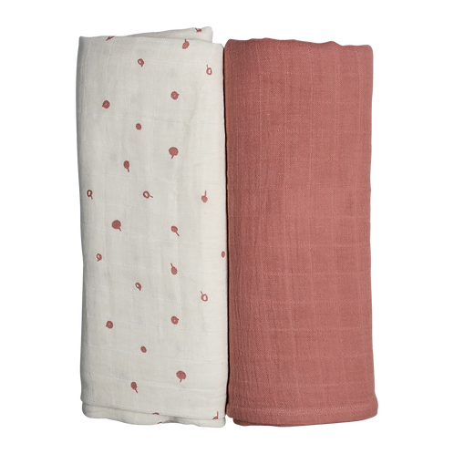 Fabelab Swaddle - 2 pack - Wild Berry