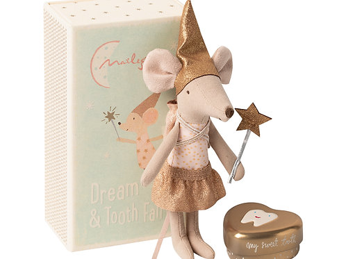 Maileg Tooth Fairy Mouse In Matchbox Big Sister
