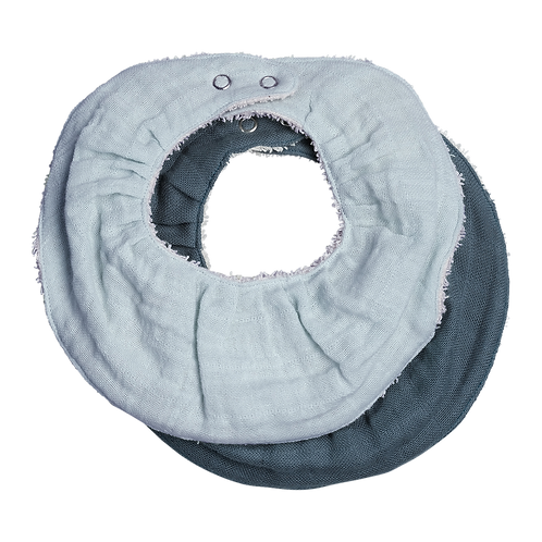 Fabelab Ruffle Bib - 2 Pack - Sea