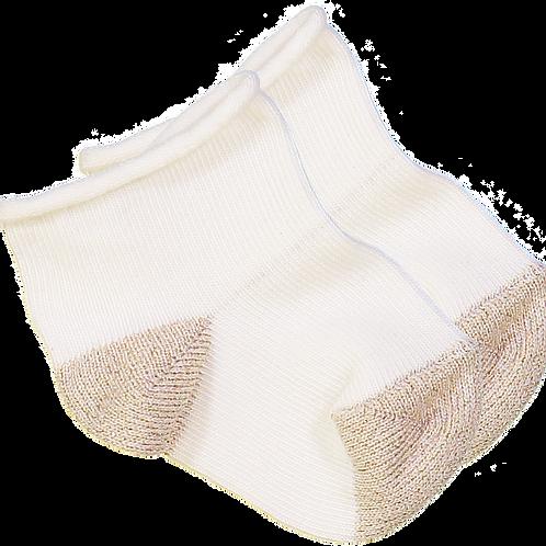 Louis Louise Paris Vanilla/Gold Cotton Sock