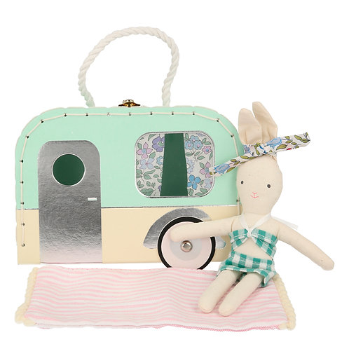 Caravan Bunny Mini Suitcase Doll