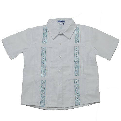 Guayabera Collection White/BlueJade Varigated