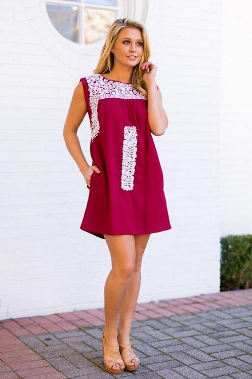 J Marie Maroon Dress