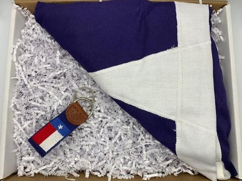 Texas flag and Smathers and Branson Key Fob