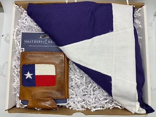 Texas flag and Texas Koozie Set