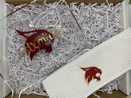 Collegiate tray and headband