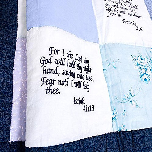 Baby Quilt with Scripture by Comfort in the World