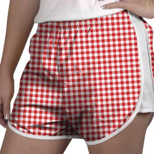 Zelda Shorts Red Gingham