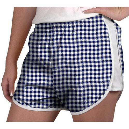 Zelda Shorts Navy Gingham