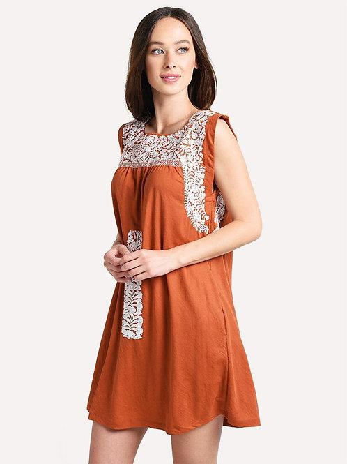 J Marie Burnt Orange Dress