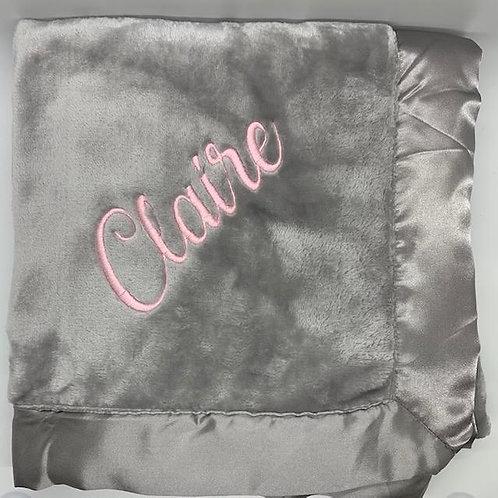 Terry Town Satin Trim Blanket with monogram