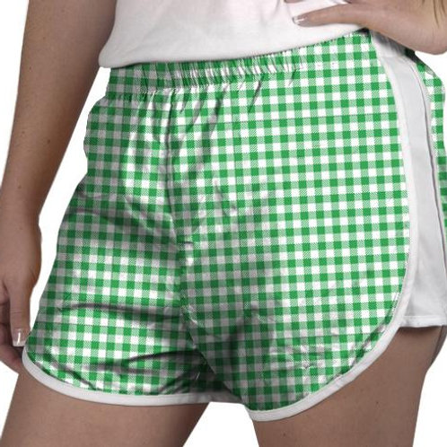 Zelda Shorts Green Gingham