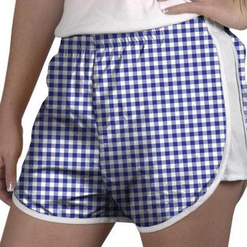 Zelda Shorts Royal Blue Gingham