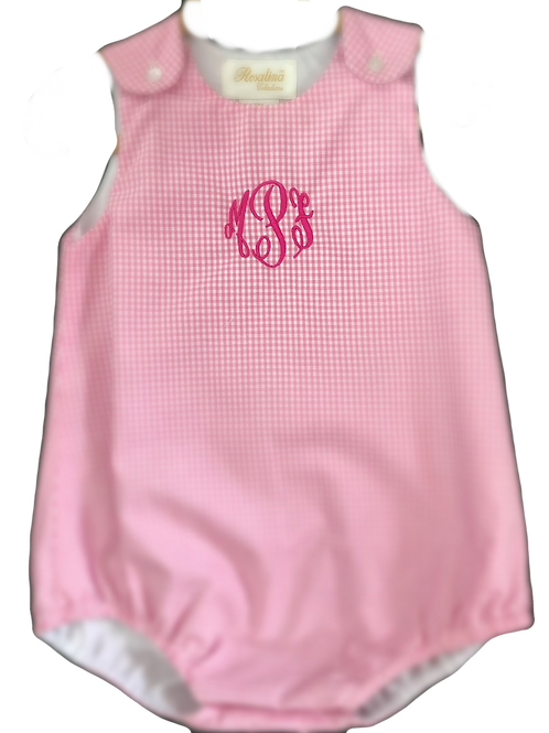 Gingham Bubble with Free Monogram