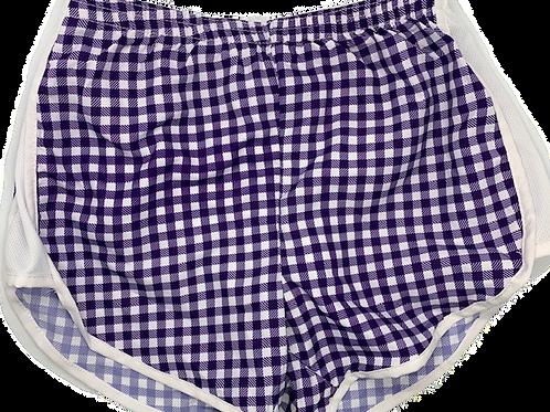 Zelda Shorts Purple Gingham