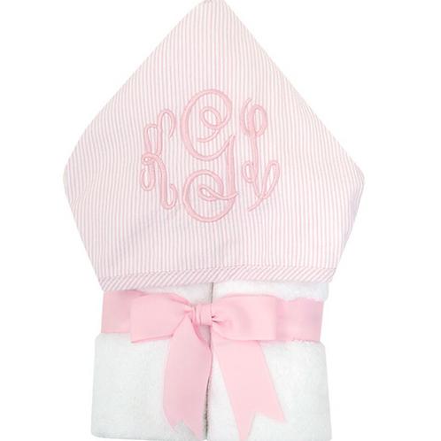 Seersucker Hooded Towel with Monogram