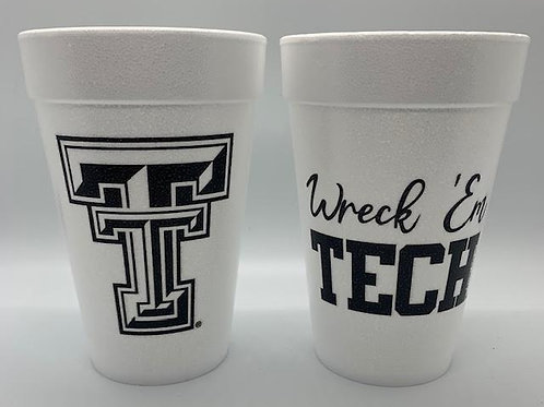 College styrofoam cups