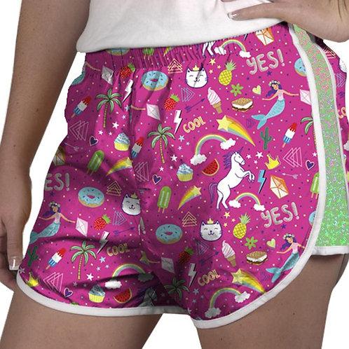 Zelda Shorts Rainbow Unicorn