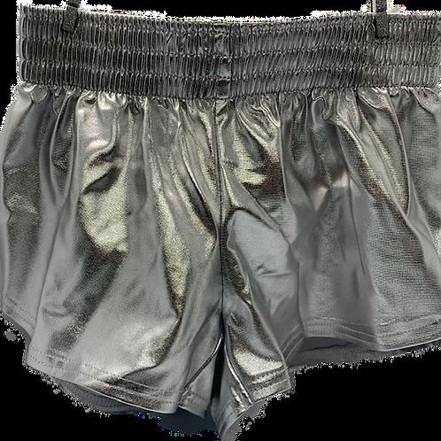 Steph Shorts Metallic Silver