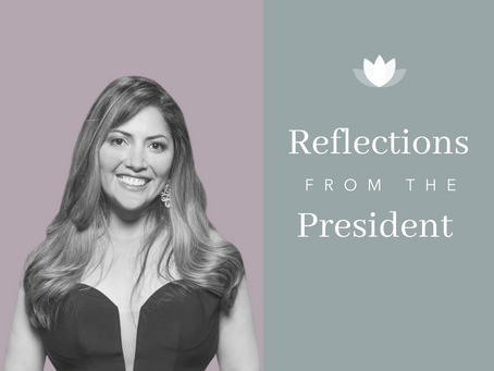 Reflections from the President