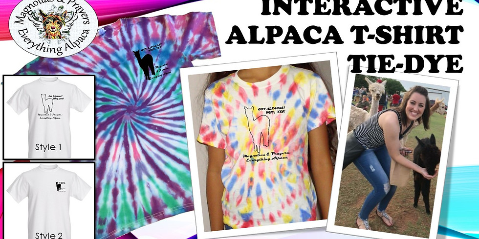 Interactive Alpaca T-shirt Tie Dye