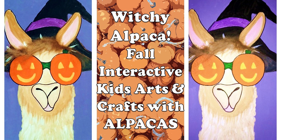 Witchy Alpaca - Fall Interactive Kids Arts & Crafts