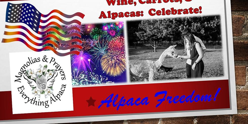 Wine, Carrots & Alpacas - Celebrate America!