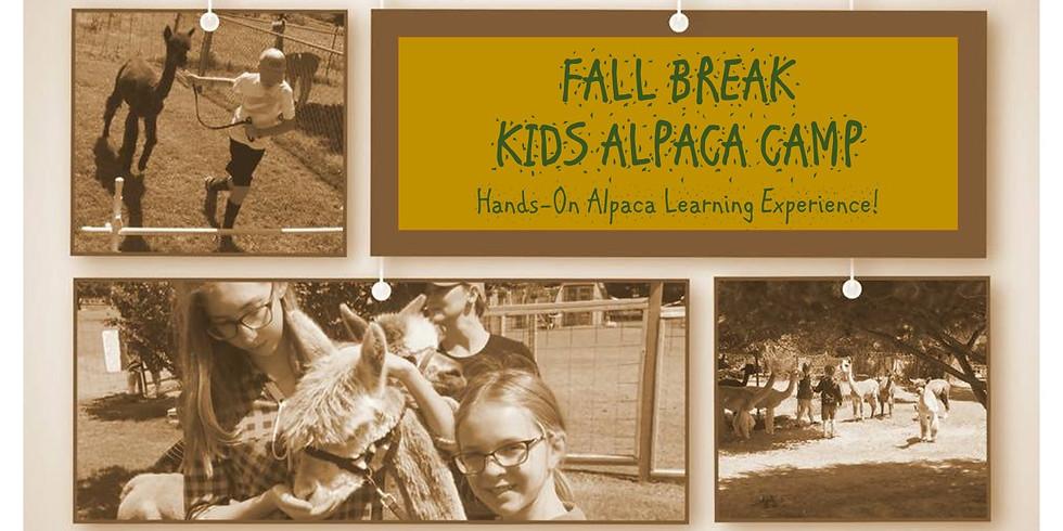 Fall Break Kids Alpaca Camp 2020