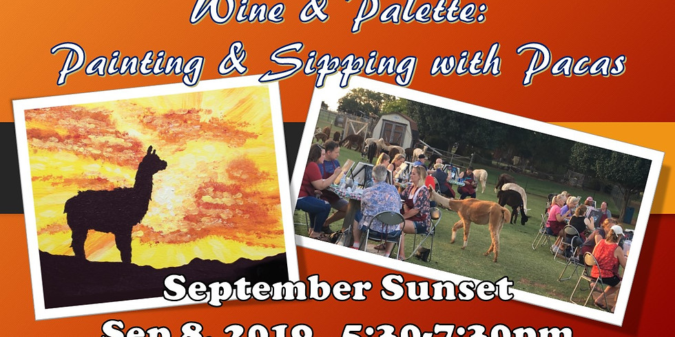 Wine & Palette/Paint with Pacas: September Sunset