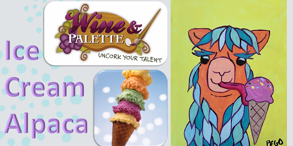 Wine & Palette: Summer Ice Cream Alpaca