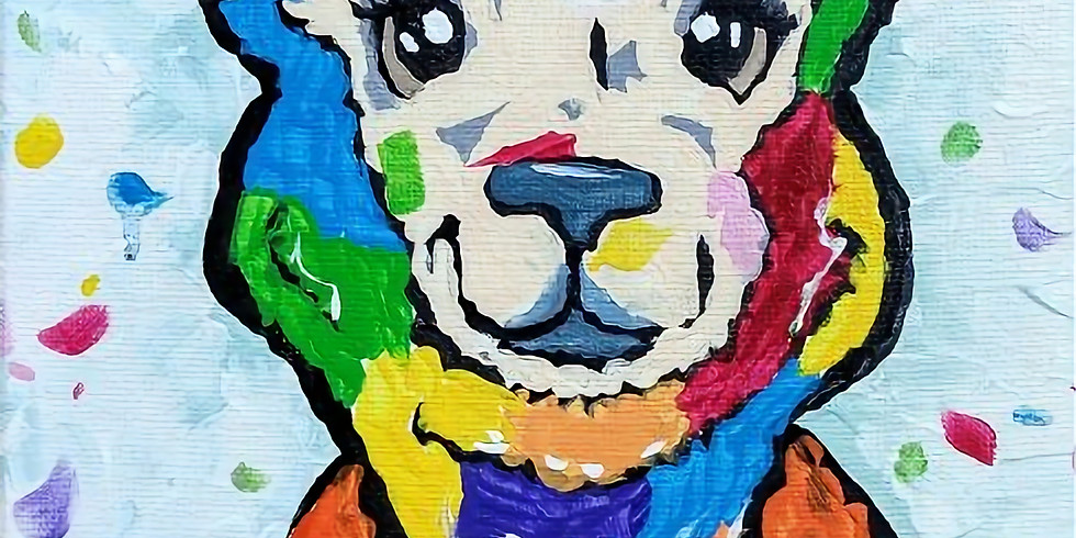 Wine/Palette: Painted Alpaca-SOLD OUT
