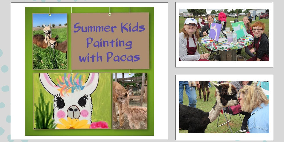 Summer Kids Painting with Pacas