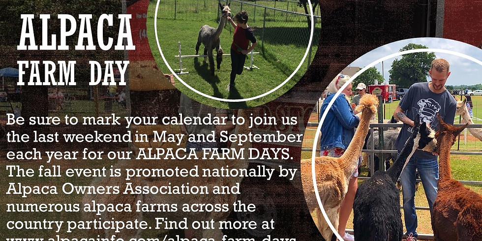 Spring 2020 Alpaca Farm Day-VENDOR FEES & REGISTRATION ONLY