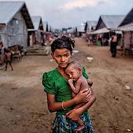 girl-Rohingya-brother-camp-Sittwe-Myanma
