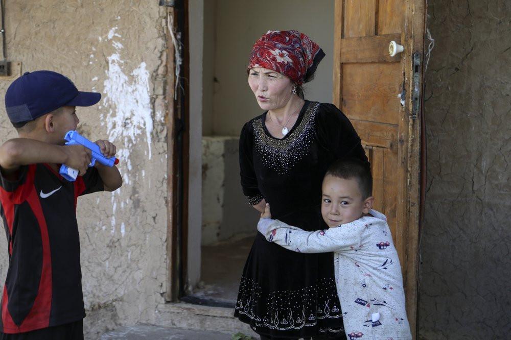 Gulnar Omirzakh and her third child, Alif Baqytali.